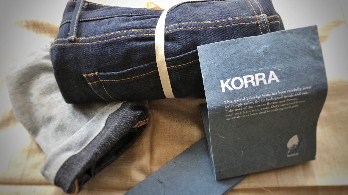 Korra Jeans Denim Product Packaging - Minimalist and sustainable using natural materials - indie brand packaging ideas